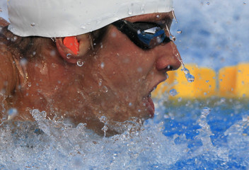 Verlinden of the Netherlands competes in the men's 100m Butterfly semifinal at the European Swimming Championships in Budapest