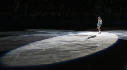 Carolina Kostner performs during the Figure Skating Gala Exhibition at the 2014 Sochi Winter Olympics