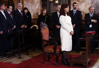Argentina's President Fernandez de Kirchner and Vice-President Boudou attend the traditional Te Deum at Buenos Aire's cathedral to commemorate the 204th anniversary of the May Revolution