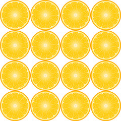 realistic vector abstract background with round orange slices