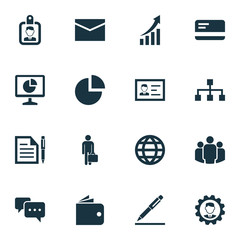 Job Icons Set. Collection Of Payment, Group, Work Man And Other Elements. Also Includes Symbols Such As Hierarchy, Group, Pie.