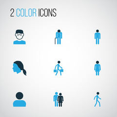 Human Colorful Icons Set. Collection Of Personal Data, Lover, Human And Other Elements. Also Includes Symbols Such As Human, Woman, Personal.