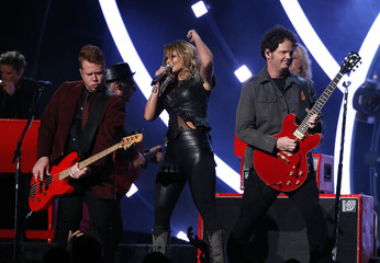 """Miranda Lambert performs """"Little Red Wagon"""" at the 57th annual Grammy Awards in Los Angeles"""