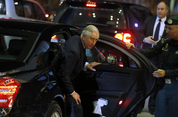 Britain's Prince Charles arrives to pay condolences following the death of Saudi King Abdullah in Riyadh