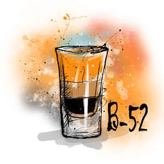 Hand drawn illustration of cocktail.