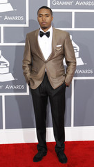 Rapper Nas arrives at the 55th annual Grammy Awards in Los Angeles