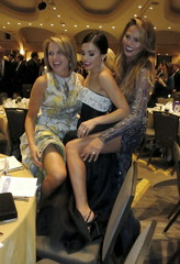 News Anchor Couric, actress Dewan-Tatum and supermodel Teigen pose for a picture at the 2015 White House Correspondents' Association Dinner in Washington