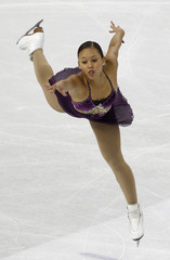 Lee of Australia performs during the women's free skate event at the World Figure Skating Championships in Turin