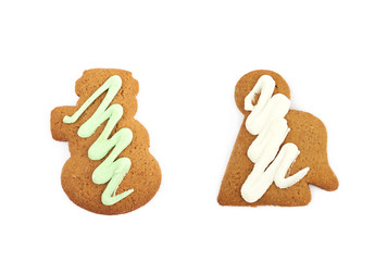 Figure shaped gingerbread isolated
