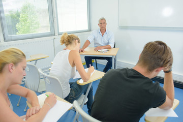 doing the examination