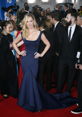 Katherine Heigl arrives at the 72nd Golden Globe Awards in Beverly Hills