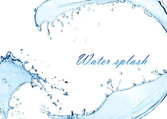 Water splash  wave bubbles.