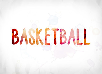Basketball Concept Painted Watercolor Word Art