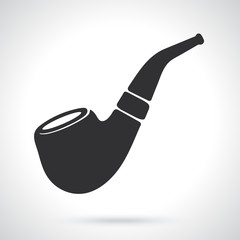 Silhouette of retro smoking pipe
