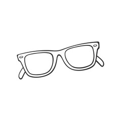 Doodle of retro sunglasses horn-rimmed glasses