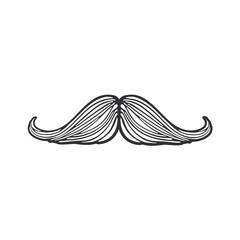 Doodle of hipsters mustache