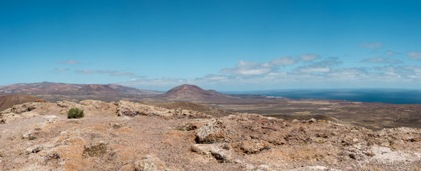 Montana Corona volcano panorama, Lanzarote, Canary Islands