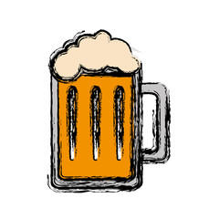 beer jar icon over white background. vector illustration