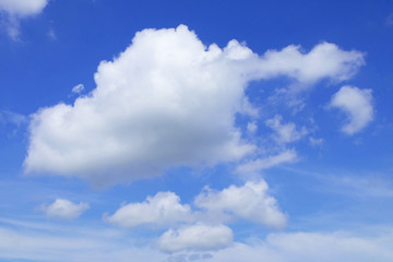 blue sky and the cloud