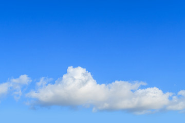 Blue sky and white cloud in sunny day, cloudscape concept with copy space