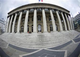 General view of the Palais Brongniart, former Paris Stock Exchange, at the place de la Bourse in Paris