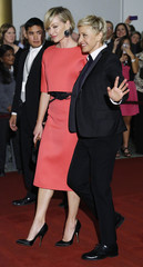 DeGeneres and de Rossi arrive for the the Mark Twain Prize ceremony in Washington