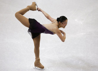 Caroline Zhang competes in the senior ladies short program at the U.S. Figure Skating Championships in Omaha