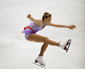 Elena Radionova of Russia competes at the ladies' free skating program during China ISU Grand Prix of Figure Skating, in Beijing