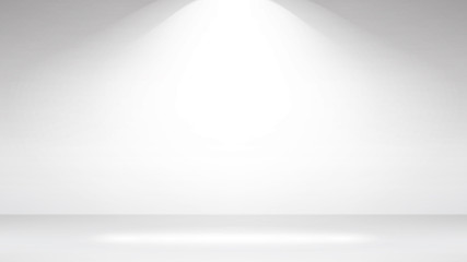 Empty White Photo Studio Interior Background. Realistic Empty White Wall. Vector Illustration.