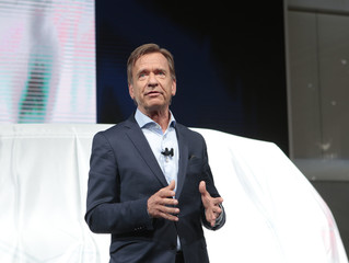 Samuelsson of  Volvo introduces the XC90T8 Inscription autonomous car during  the North American International Auto Show in Detroit,