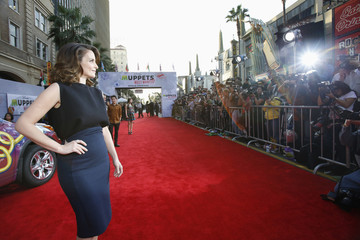 "Cast member Fey poses at the premiere of ""Muppets Most Wanted"" at El Capitan theatre in Hollywood"