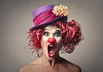 Surprised clown