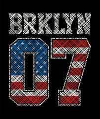 Athletic brooklyn 07, T shirt Graphic