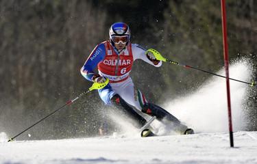 Italy's Moelgg competes during men's Alpine Skiing World Cup Slalom race in Kranjska Gora