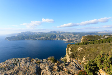 Cassis view from Cape Canaille top, France
