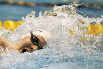 MacLean swims to win in Women's 400m freestyle at Canadian Olympic swimming trials in Montreal