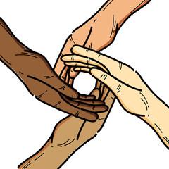 nice hands together like friendship symbol