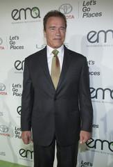 Actor and producer Schwarzenegger poses at the 2014 Environmental Media Awards at Warner Bros. Studios in Burbank