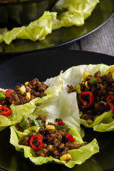 chilli beef lettuce wraps