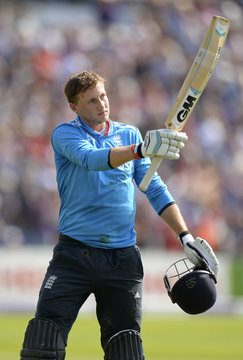 England's Root leaves the field after being dismissed for 113 runs during the fifth ODI cricket match against India at Headingley cricket ground in Leeds