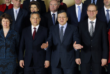 Hungary's PM Orban meets EC President Barroso in Brussels