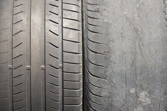 Two old tires