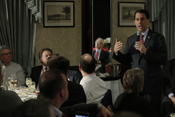 Potential Republican 2016 presidential candidate Wisconsin Governor Scott Walker speaks at the First in the Nation Republican Leadership Conference in Nashua