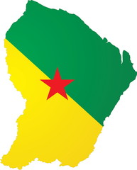 French Guiana map