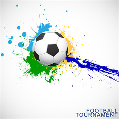 Abstract football (soccer) vector background template. Vector Illustration, EPS 10