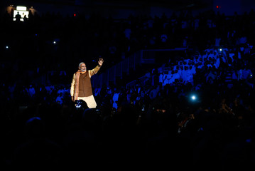 India's Prime Minister Narendra Modi talks during a speech to the general public in Toronto