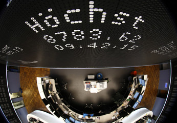 A new all time high is seen on the German share price index DAX board at the stock exchange in Frankfurt