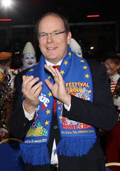Prince Albert II of Monaco applauds during the opening ceremony of the 35th International Circus Festival of Monte Carlo in Monaco