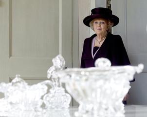 """Queen Beatrix of the Netherlands attends the opening of the exhibition """"Dutch Design - Huis van Oranje"""" in Oranienbaum"""