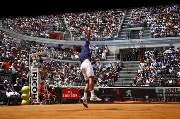 Tennis - ATP - Rome Open - Novak Djokovic of Serbia v Dominic Thiem of Austria